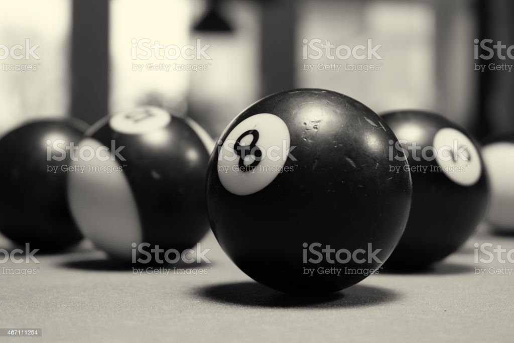 8-ball stock photo