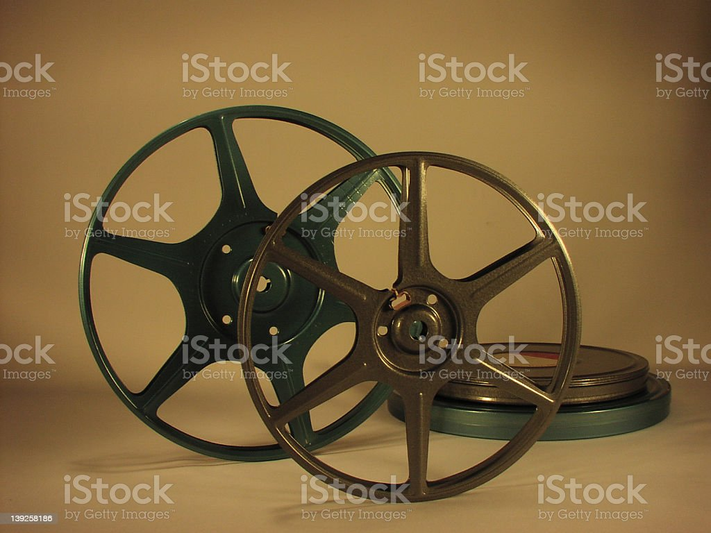 8mm Movie Reels royalty-free stock photo