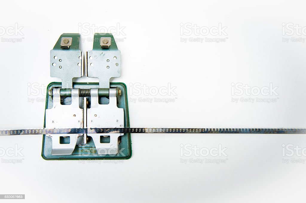 8mm vintage splicer with film stock photo