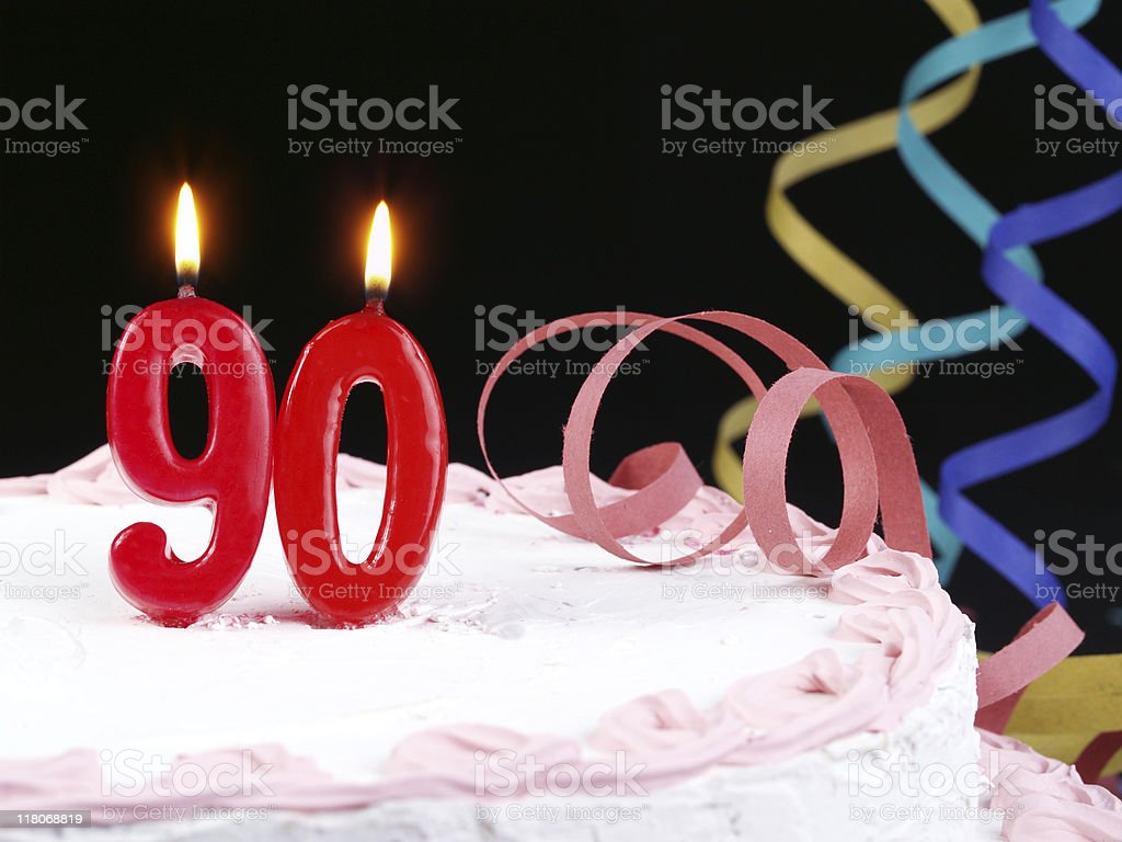 90th. Anniversary stock photo