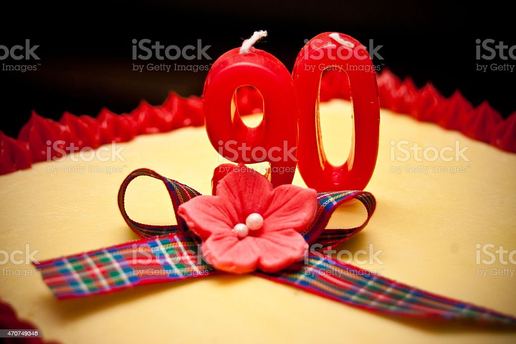 90th Birthday stock photo