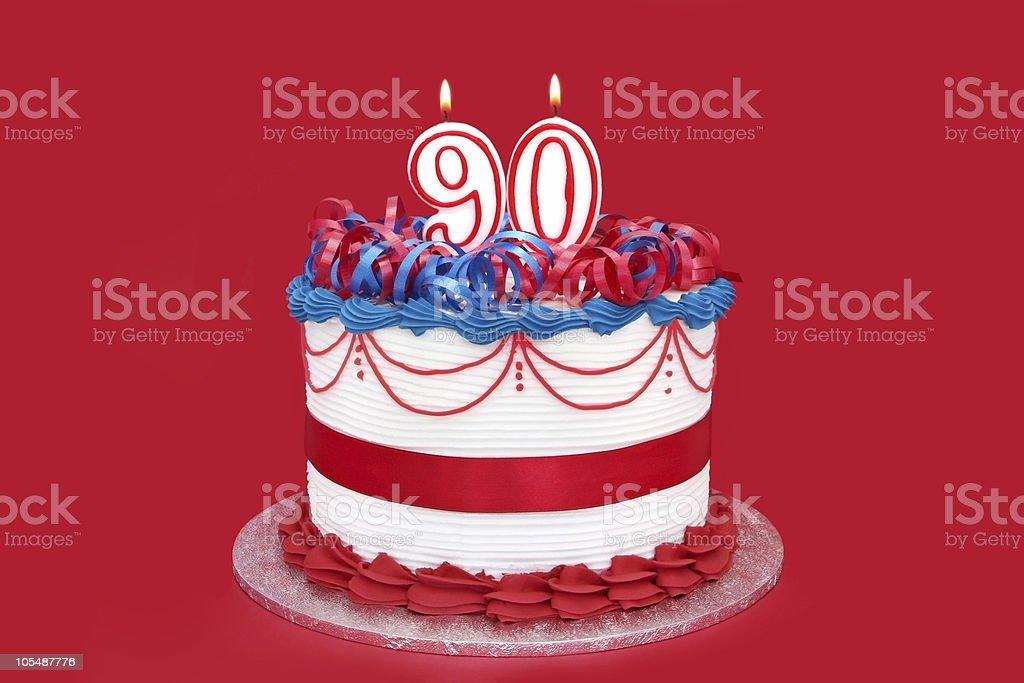 90th Cake stock photo