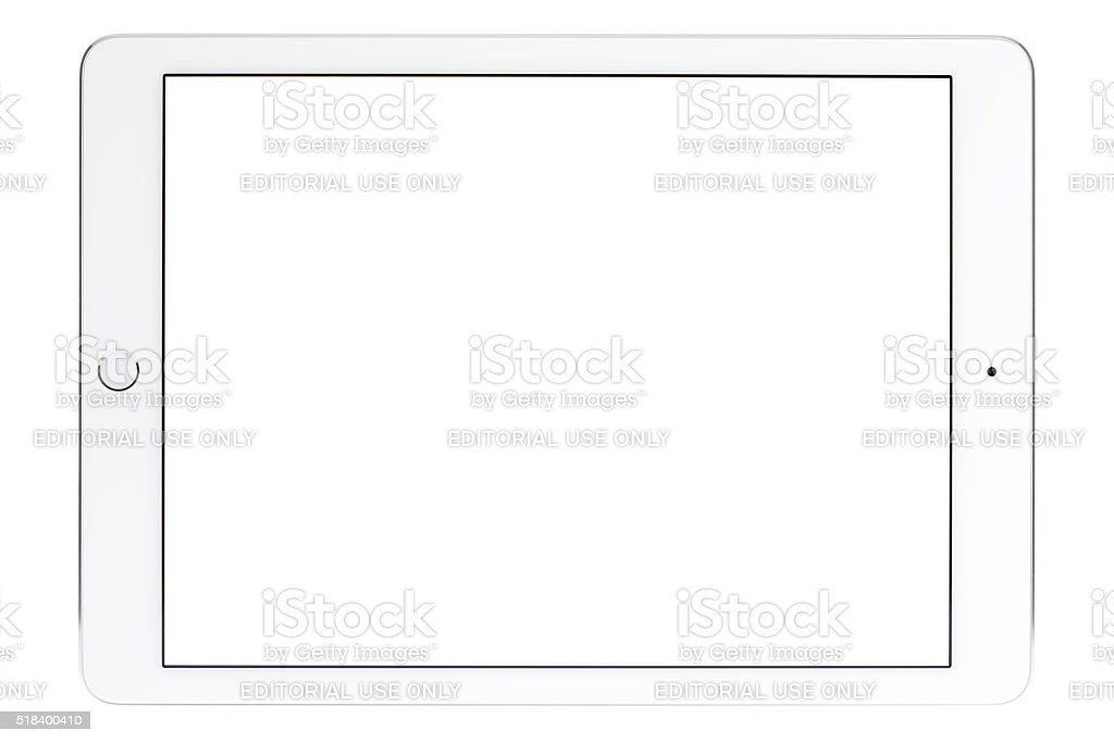 9.7-inch iPad Pro With White Screen - Horizontal stock photo