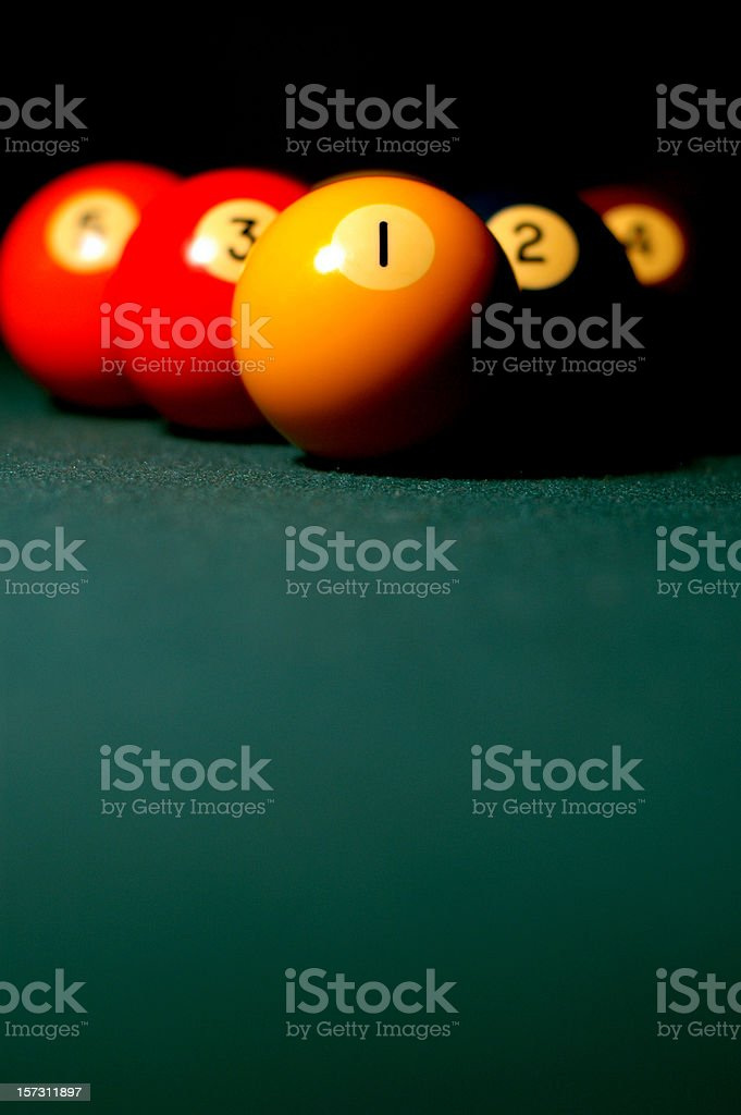 9-Ball Rack stock photo