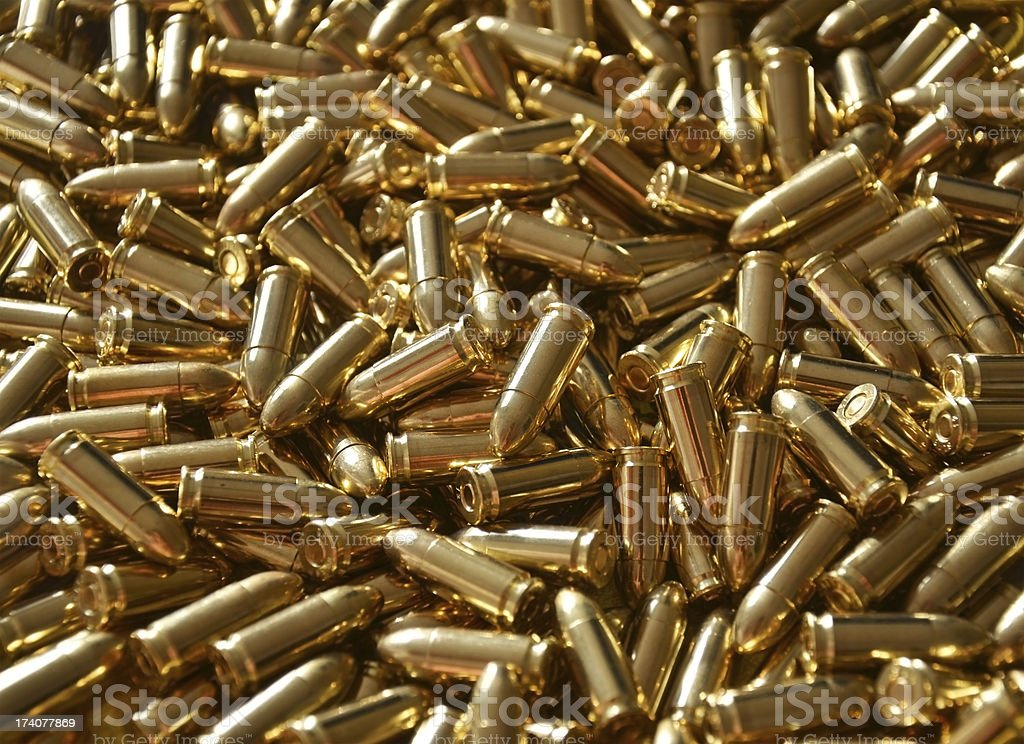 9mm Bullet Ammunition Luger stock photo