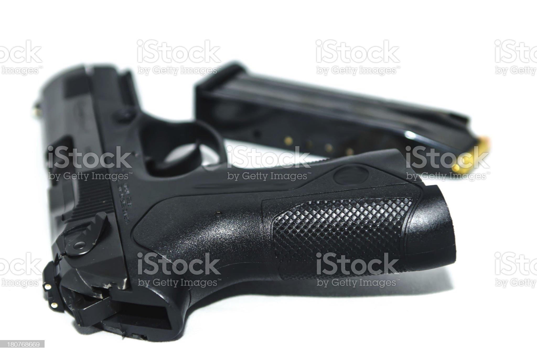 9mm gun and ammo royalty-free stock photo