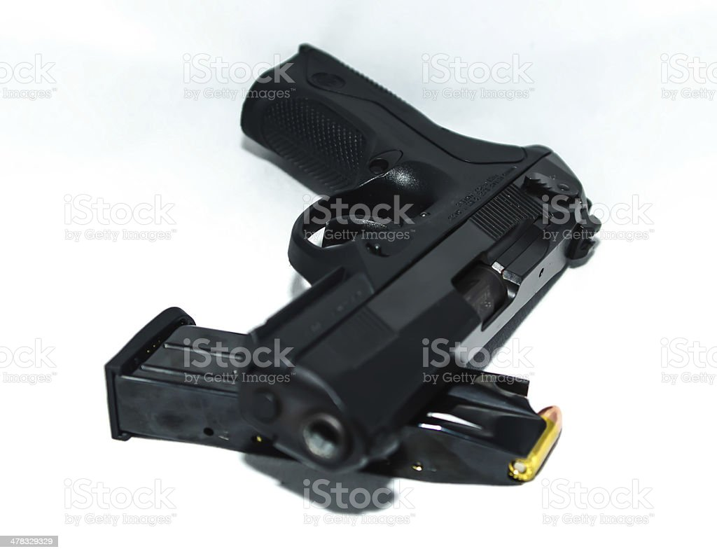 9mm gun and ammo royalty-free stock photo