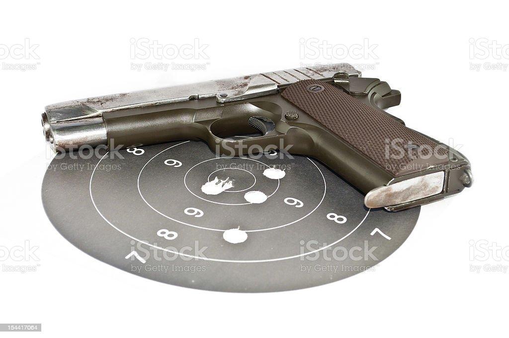 9 mm Ręczna broń palna i wypunktowanie zbiór zdjęć royalty-free