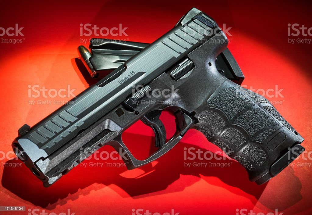 VP9 9mm Handgun and Magazine stock photo
