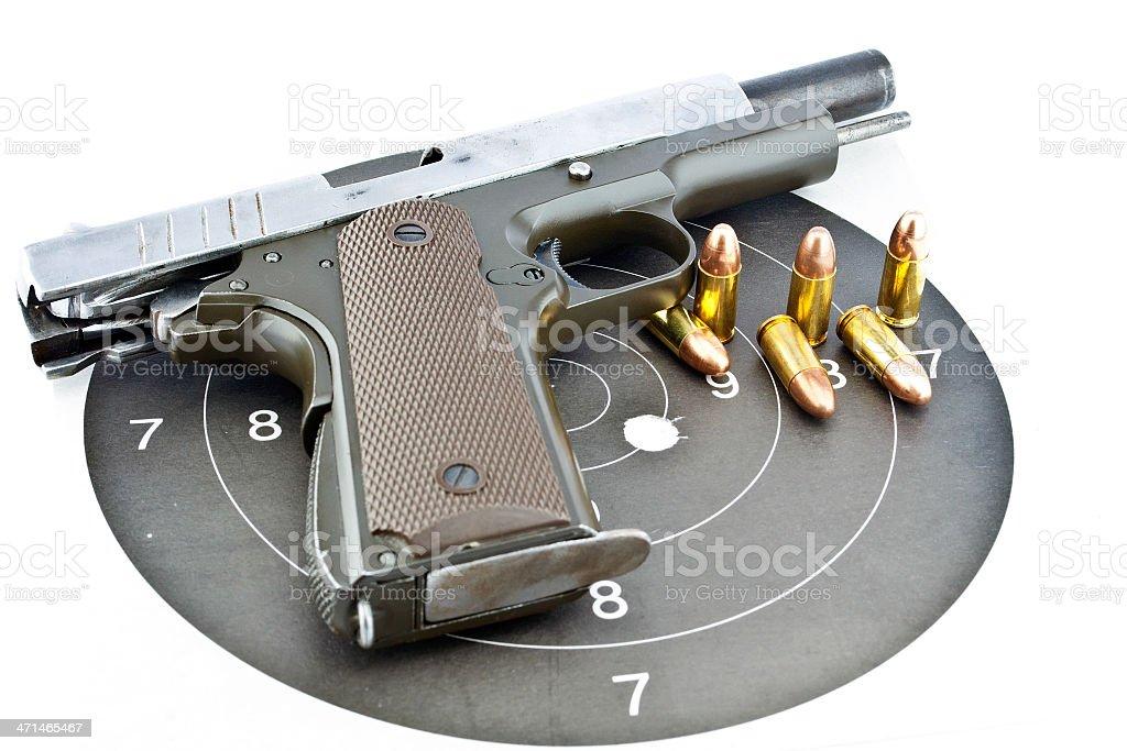 9 mm Ręczna broń palna i Strzelectwo sportowe zbiór zdjęć royalty-free