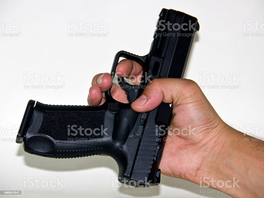 9mm pistol stock photo