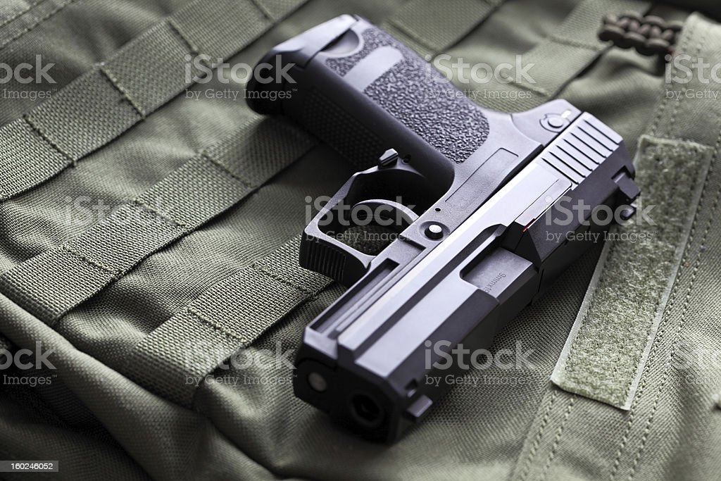 9mm semi-automatic pistol royalty-free stock photo