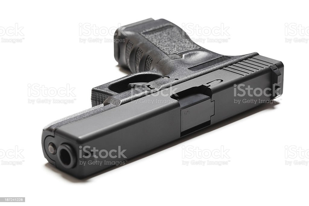 9mm semi-automatic pistol stock photo