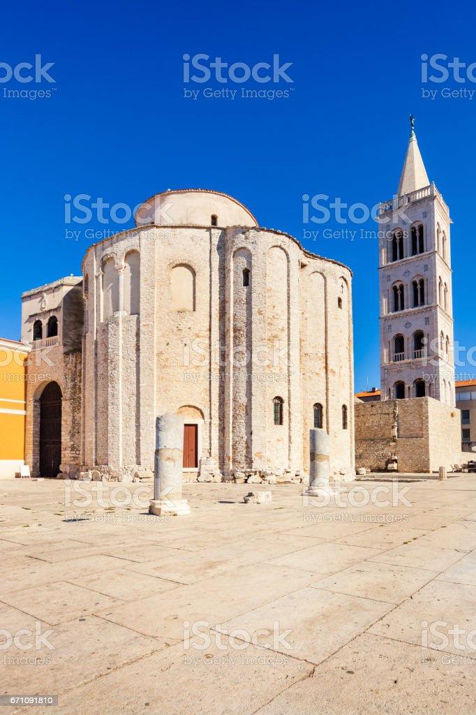 9th century St Donatus church in old town Zadar Croatia stock photo