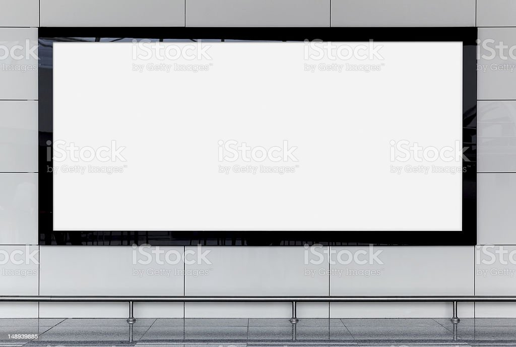 a blank black and white billboard royalty-free stock photo