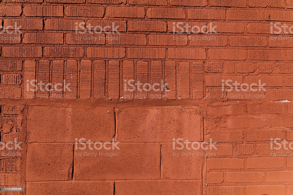 a brick wall with vertical and horizontal pattern stock photo