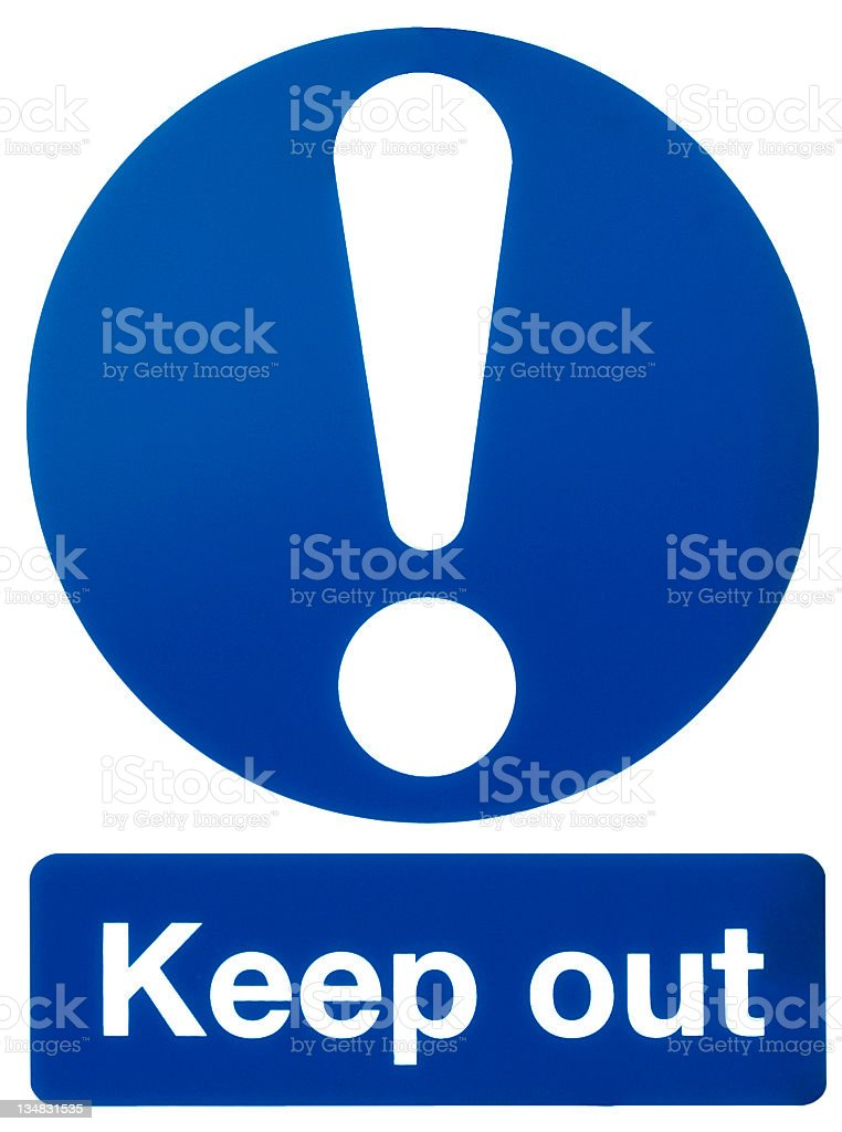 a classic sign of a keep out danger sign royalty-free stock photo