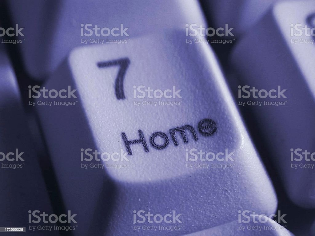 a closeup of a Keypad, seven - home royalty-free stock photo