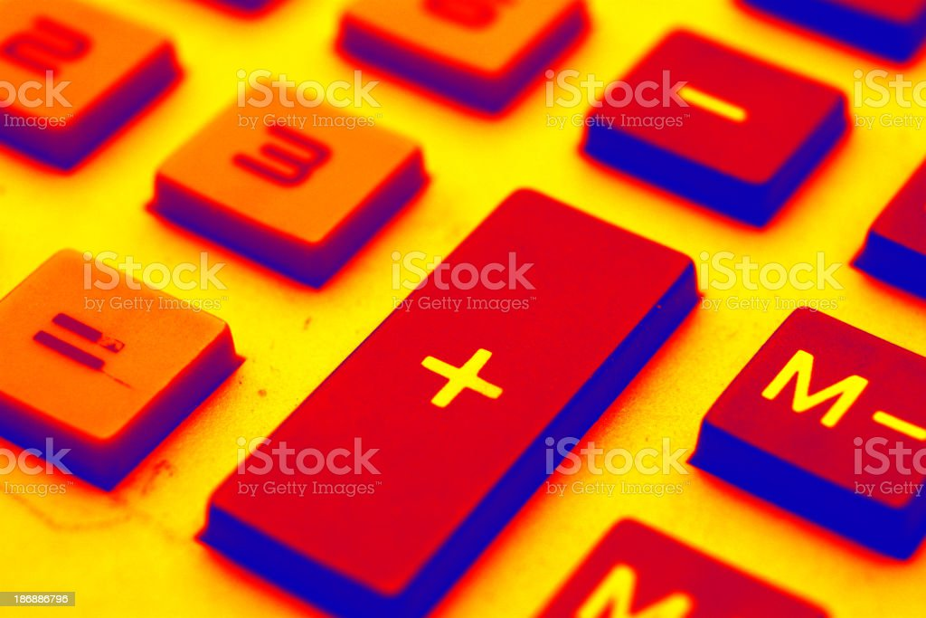 a closeup of business calculator pad  + royalty-free stock photo