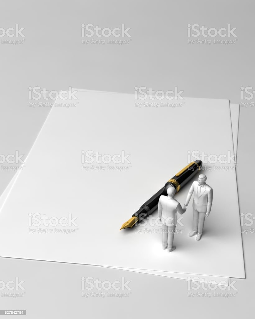 a contract is established stock photo