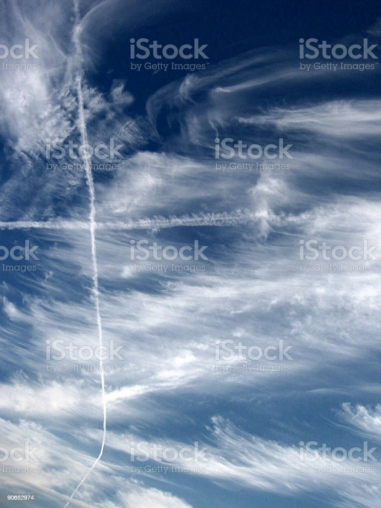 a cross on the sky royalty-free stock photo