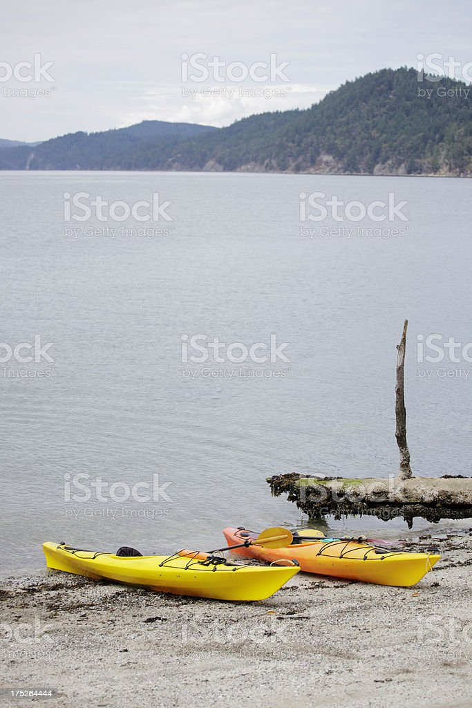 a day at the beach in Gabriola island stock photo