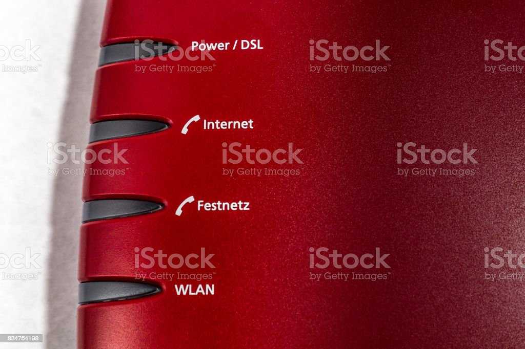 a dsl router or modem stock photo