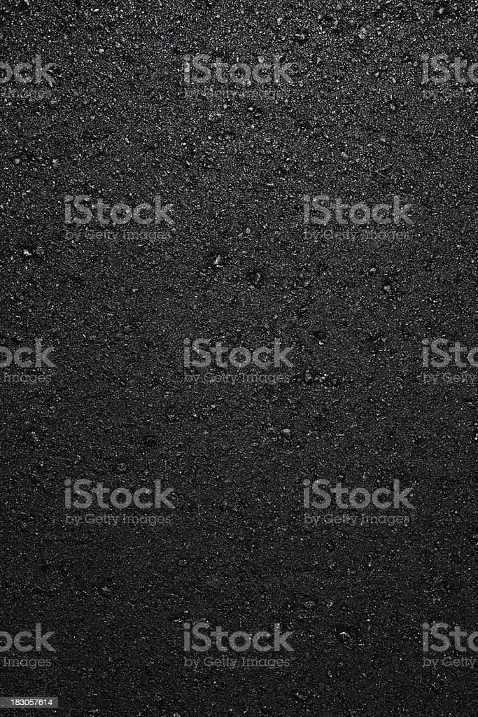a fresh layer of new hot asphalt stock photo