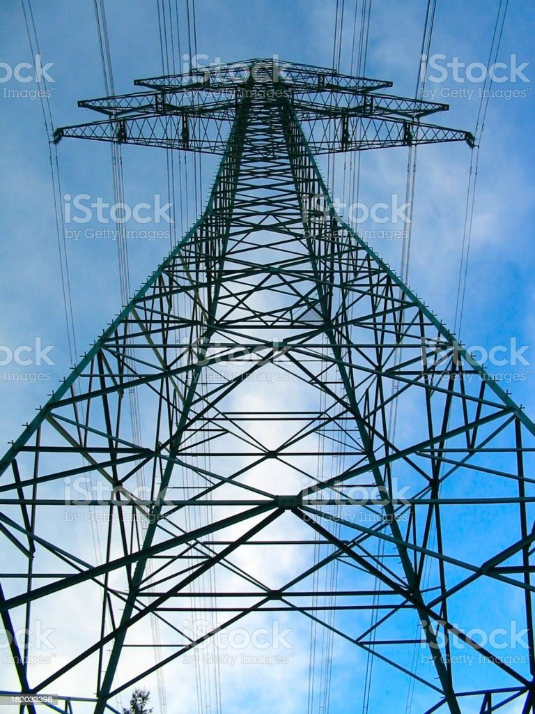 a giant power pole royalty-free stock photo