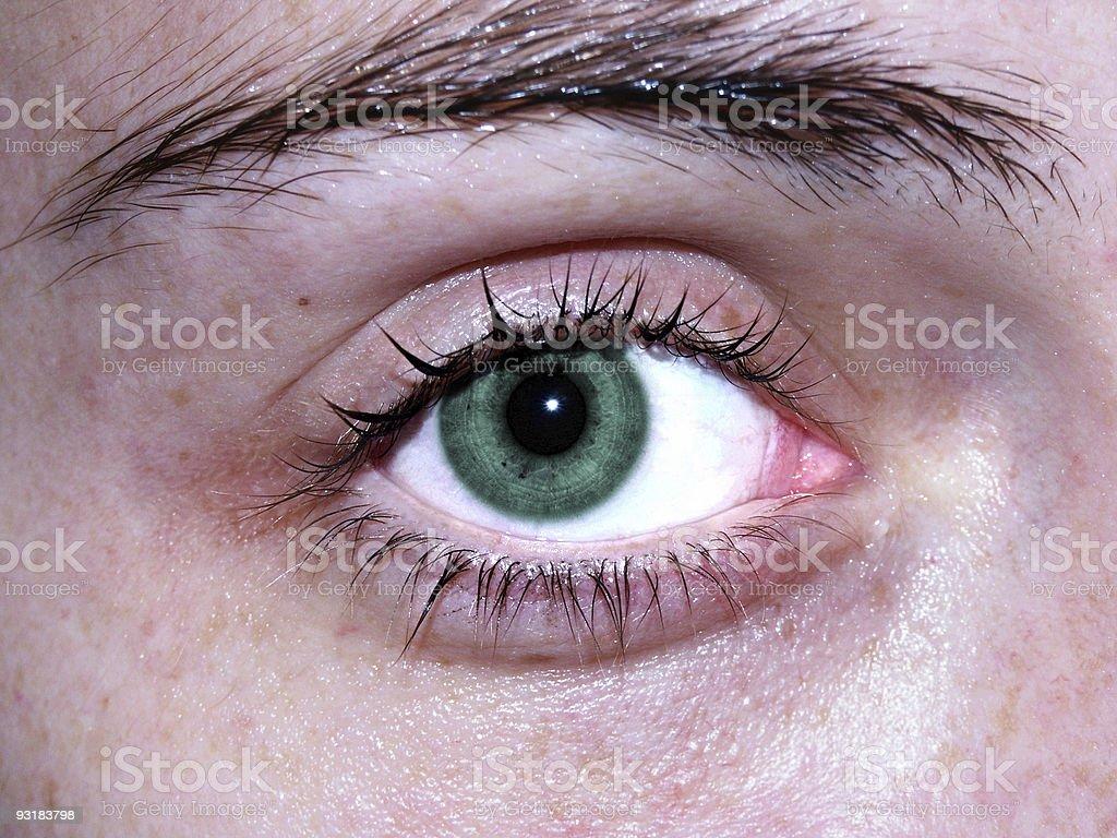 a girl's eye royalty-free stock photo