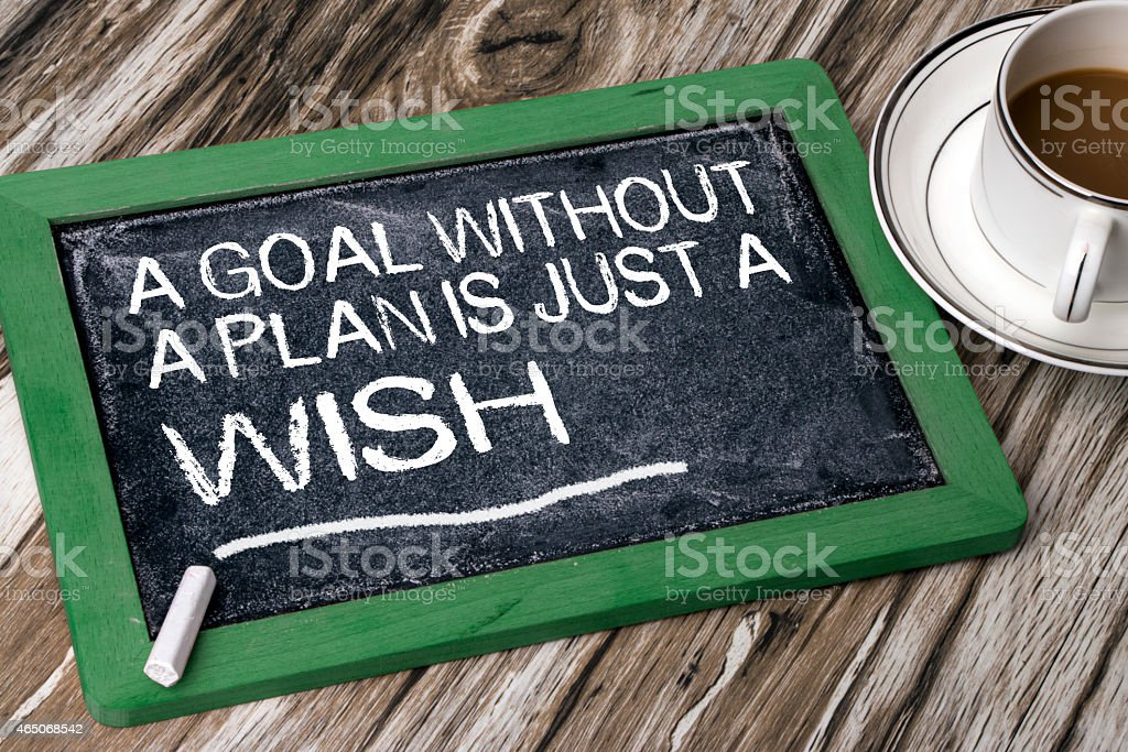 """""""a goal without a plan is just a wish"""" stock photo"""