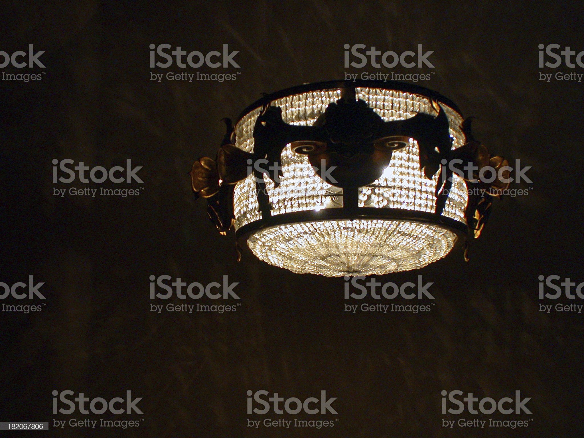 a hanging light / chandelier - dark background royalty-free stock photo