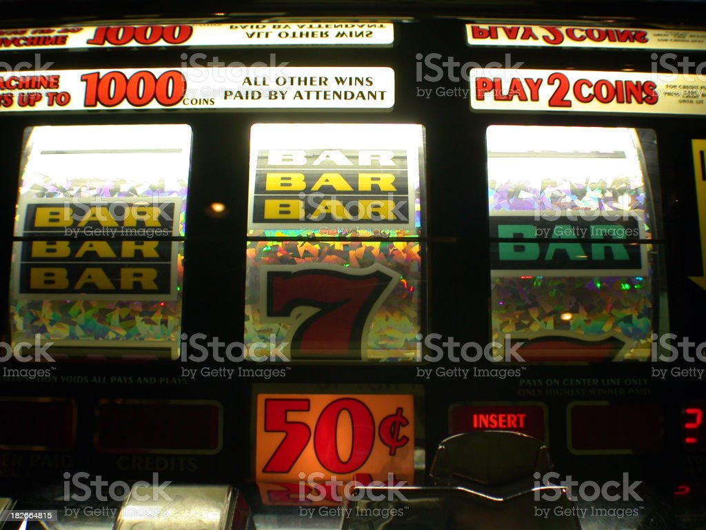 a jackpot machine in the casino royalty-free stock photo