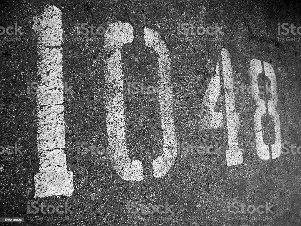 a parking number sign - abstract background stock photo