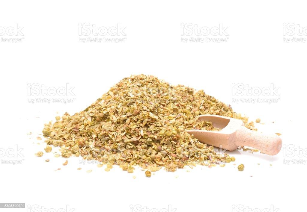 a pile of dried oregano stock photo