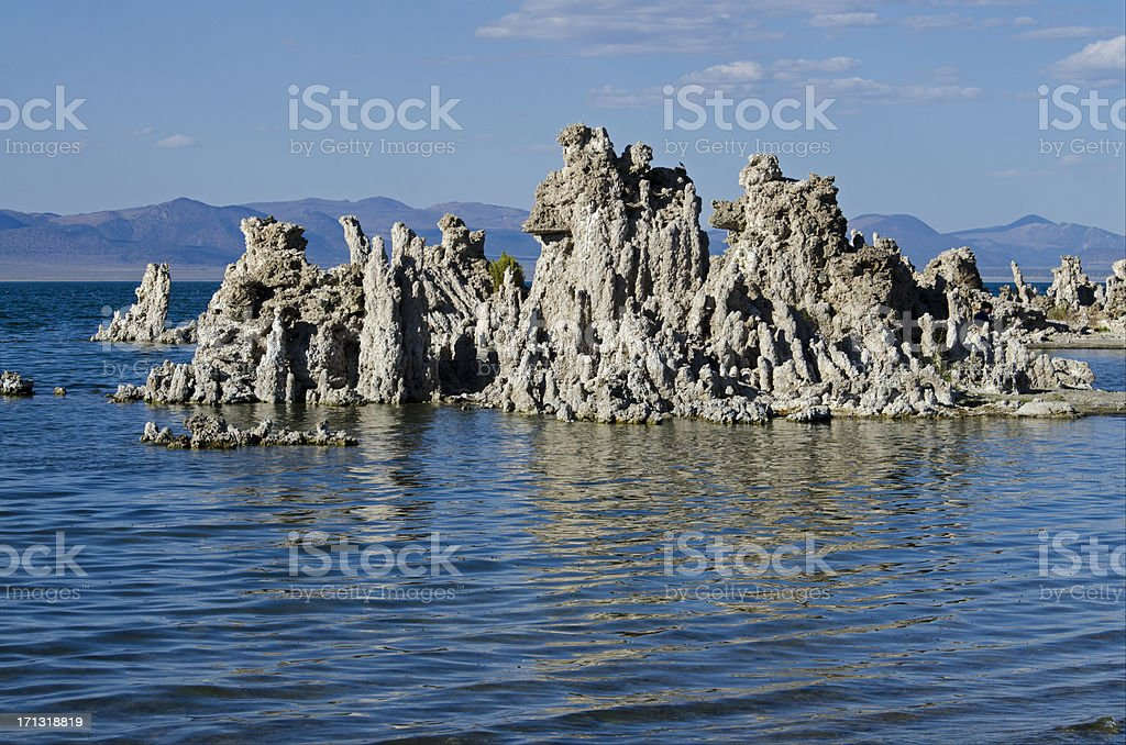 a rock formation in the sea in California royalty-free stock photo
