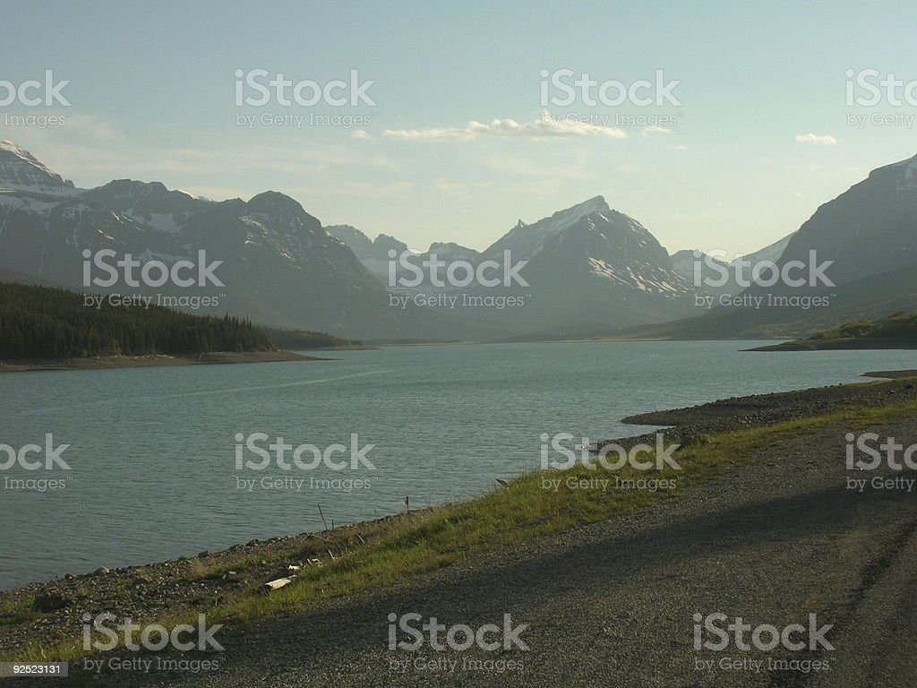 a scenic view of glacier Montana royalty-free stock photo