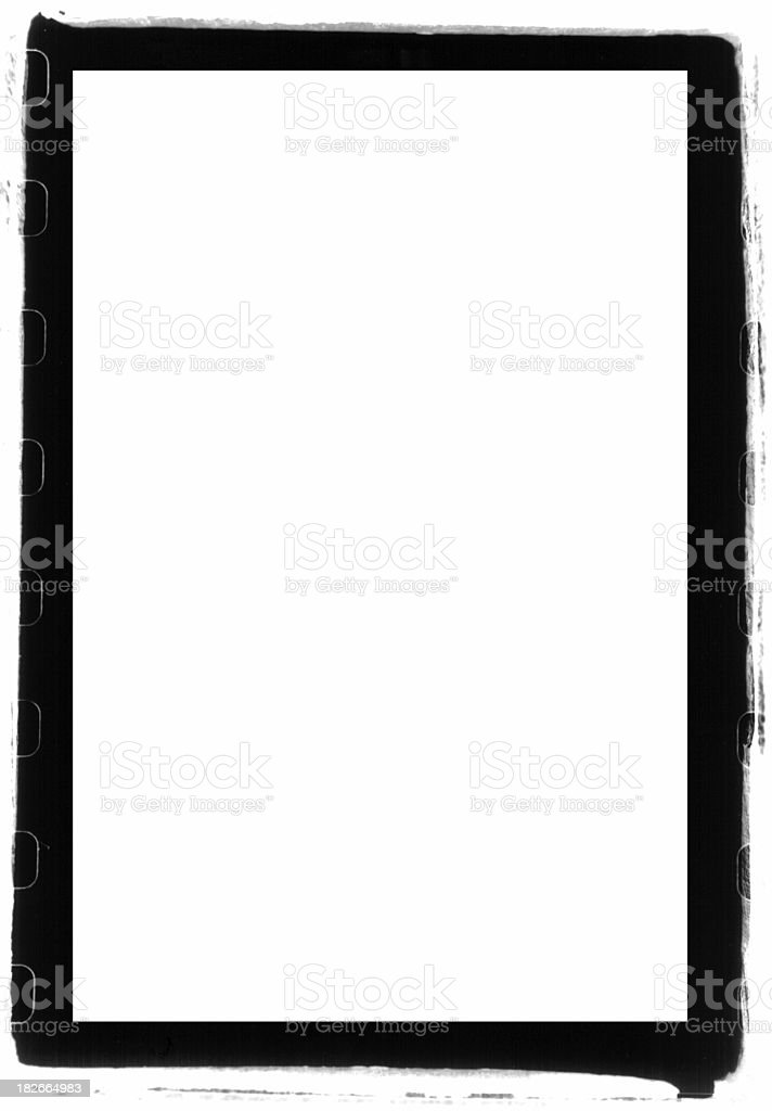 a thick full-frame border - black / white , custom to your need stock photo