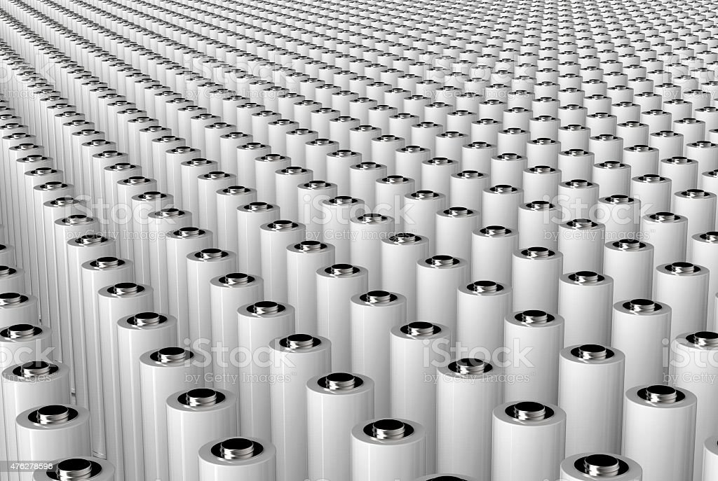 aa battery isolated on a white back ground stock photo