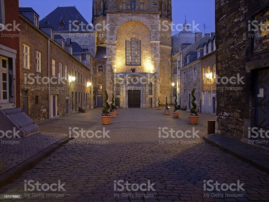 Aachen Cathedral (Aachener Dom) Entrance royalty-free stock photo