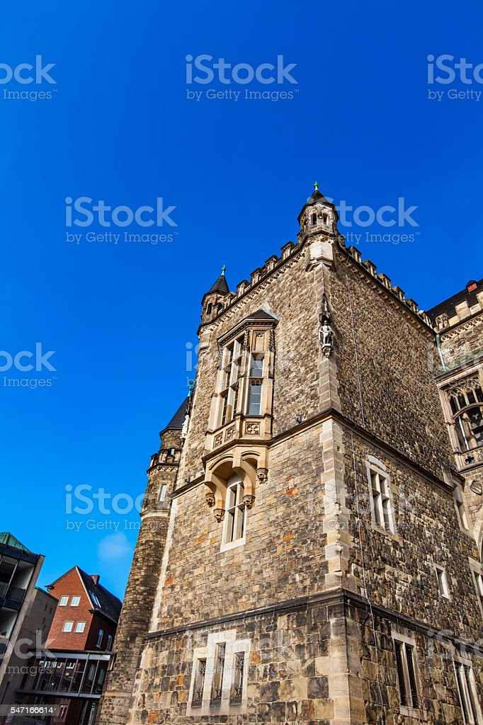 Aachen Cathedral, Germany stock photo