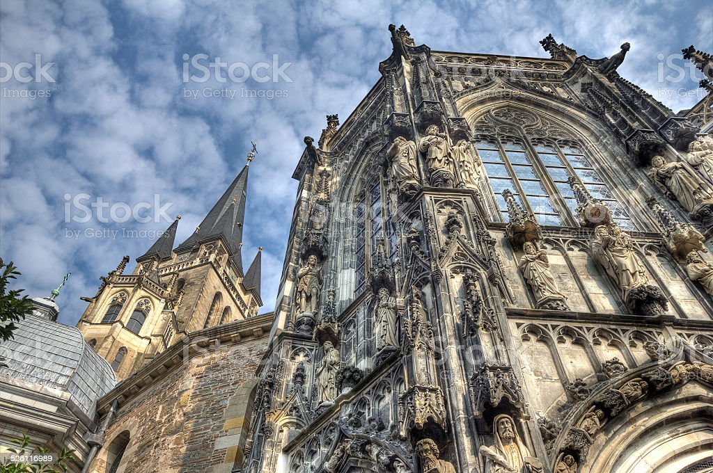 Aachen Cathedral in Germany stock photo