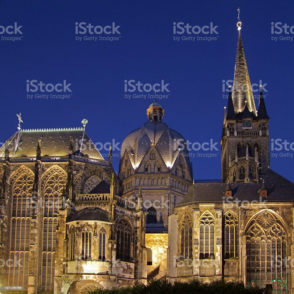 Aachen Cathedral (Aachener Dom) stock photo