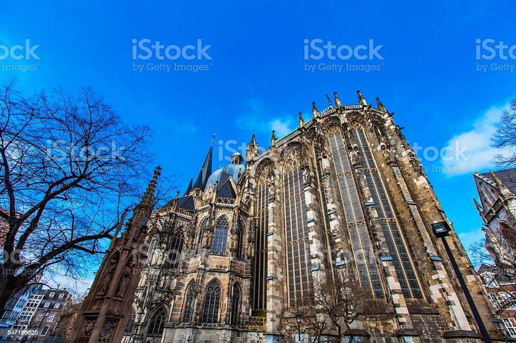 Aachen cathedral stock photo
