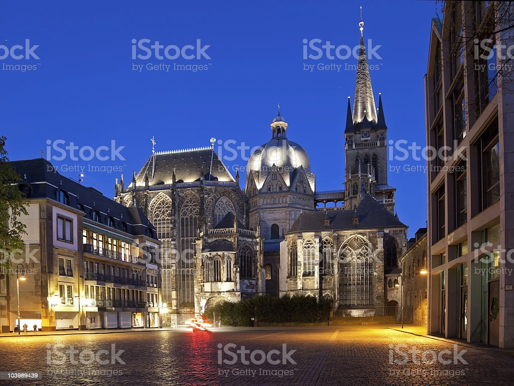 Aachen Cathedral XL stock photo