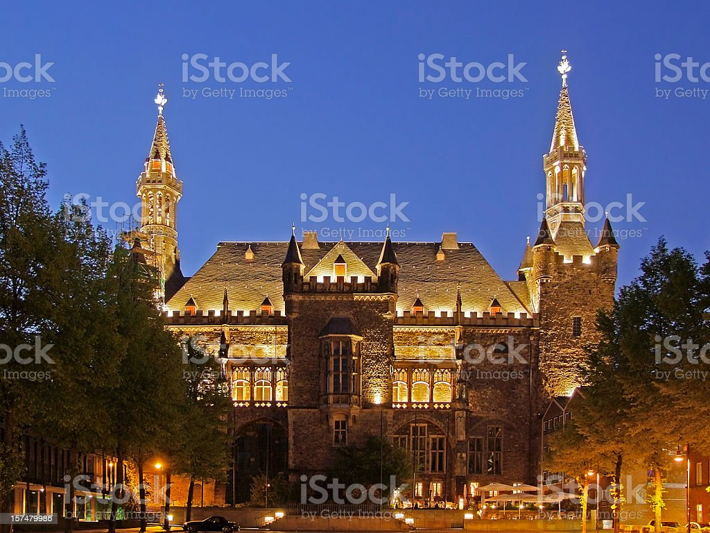 Aachen City Hall (Rathaus) royalty-free stock photo