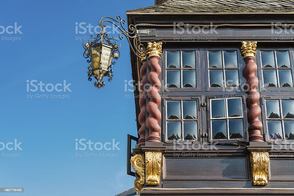 Aachen historic city centre stock photo