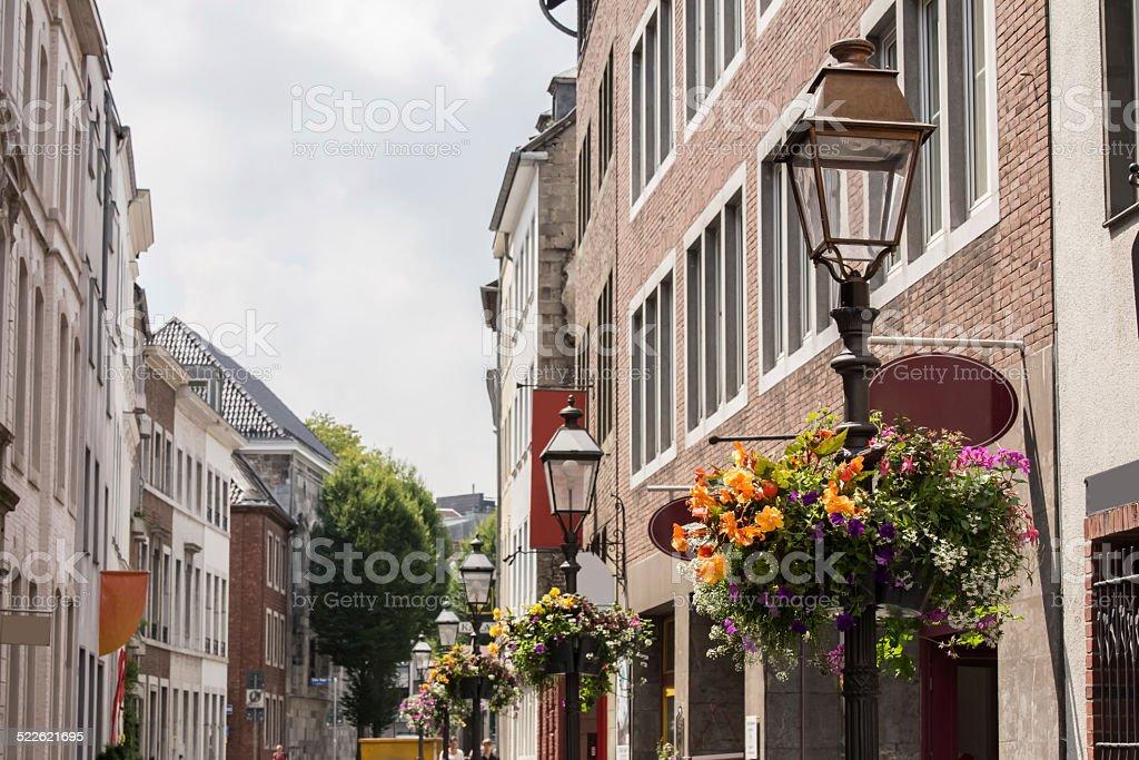 aachen old city stock photo