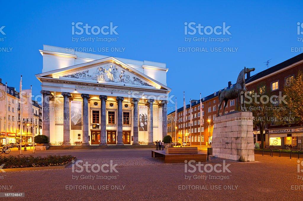 Aachen Theater stock photo