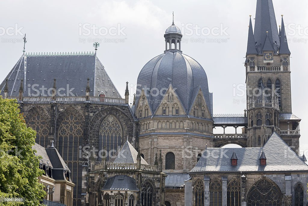 Aachener Dom in Germany stock photo